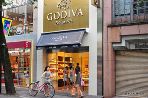 "Godiva has worked to capitalize on ""indulgent parsimony"" consumption in Japan. Photo credit: Shibuya246 